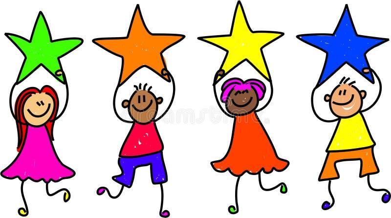 Personas de la estrella ilustración del vector