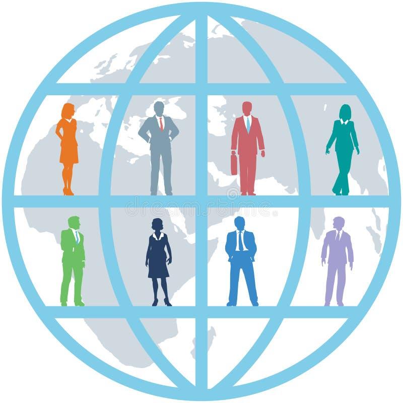 Personas de los recursos de la gente del mundo del asunto global stock de ilustración