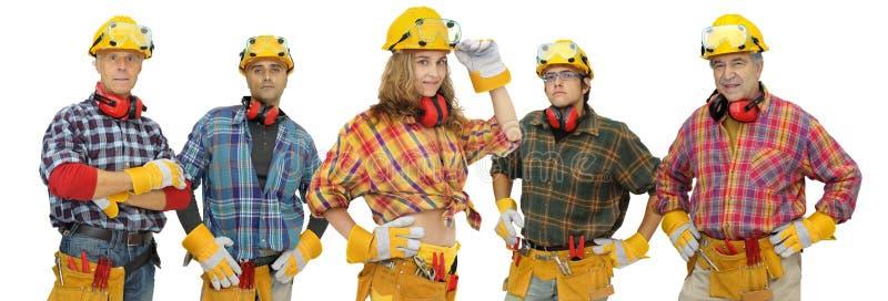 Personas de los trabajadores de construcción imagen de archivo libre de regalías