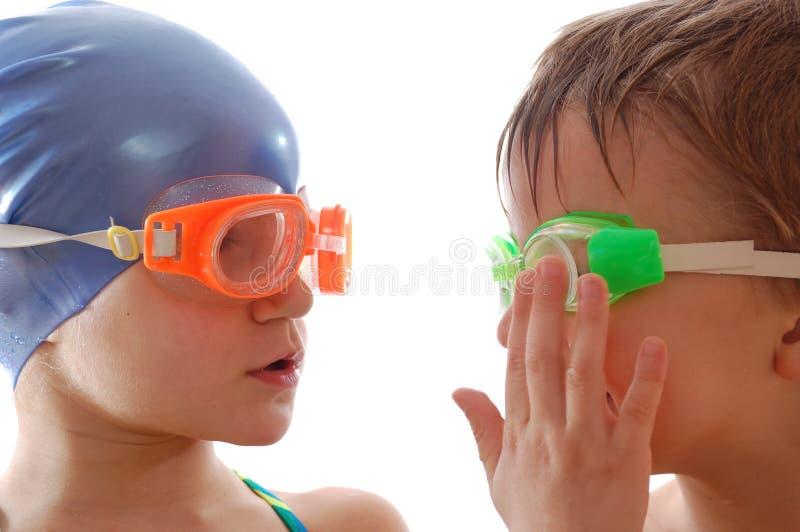Personas de natación fotos de archivo libres de regalías