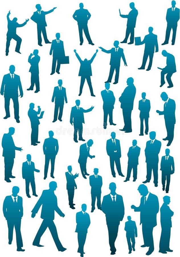 Personas del asunto - colección grande stock de ilustración