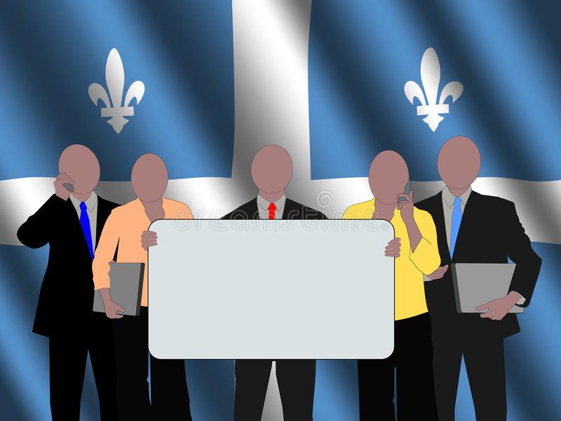 Personas del asunto de Quebec libre illustration