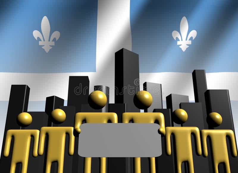 Personas del asunto de Quebec con horizonte stock de ilustración
