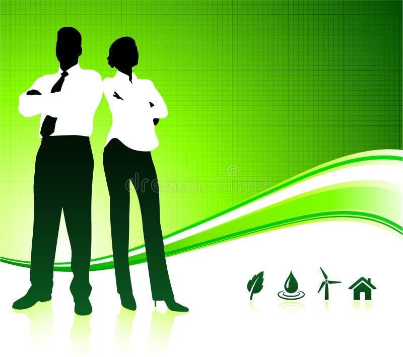 Personas del asunto en fondo verde del ambiente libre illustration