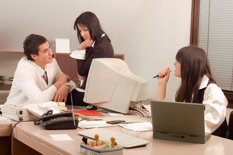 Personas del asunto en la oficina foto de archivo