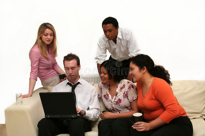 Personas del asunto - reunión relaxed imagen de archivo libre de regalías