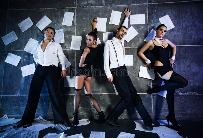 Personas del bailarín fotos de archivo