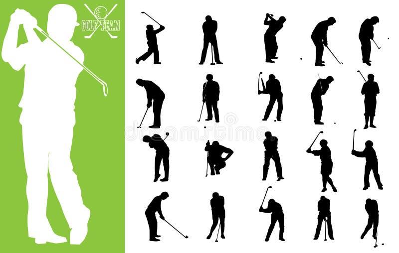 Personas del golf ilustración del vector