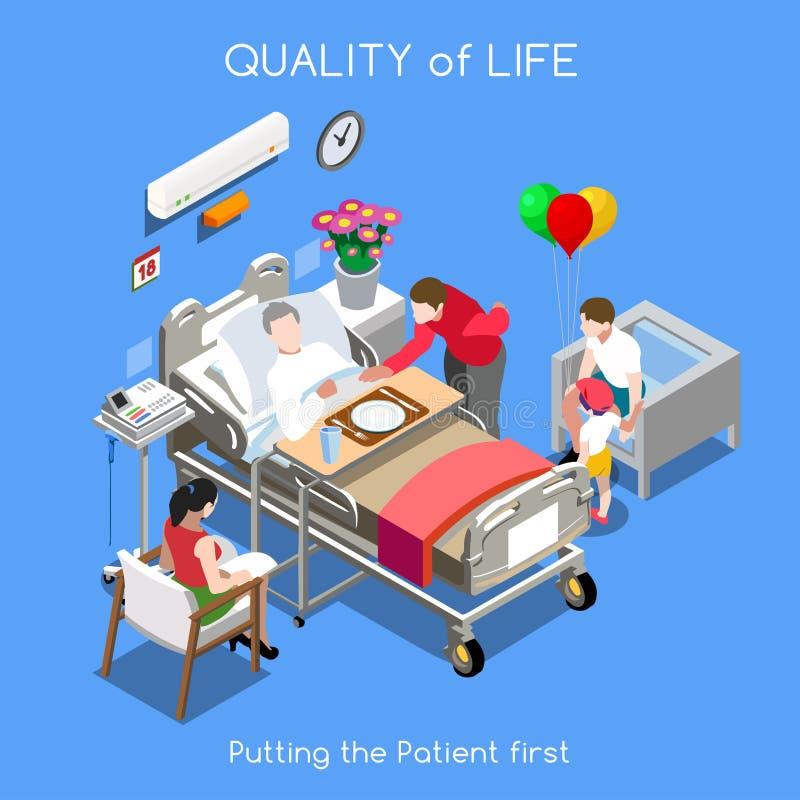 Personas del hospital 01 isométricas stock de ilustración