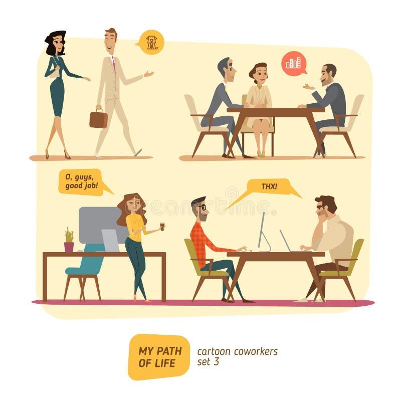 Personas del negocio en tratos libre illustration