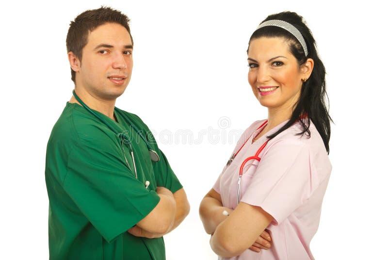 Personas felices de los doctores foto de archivo