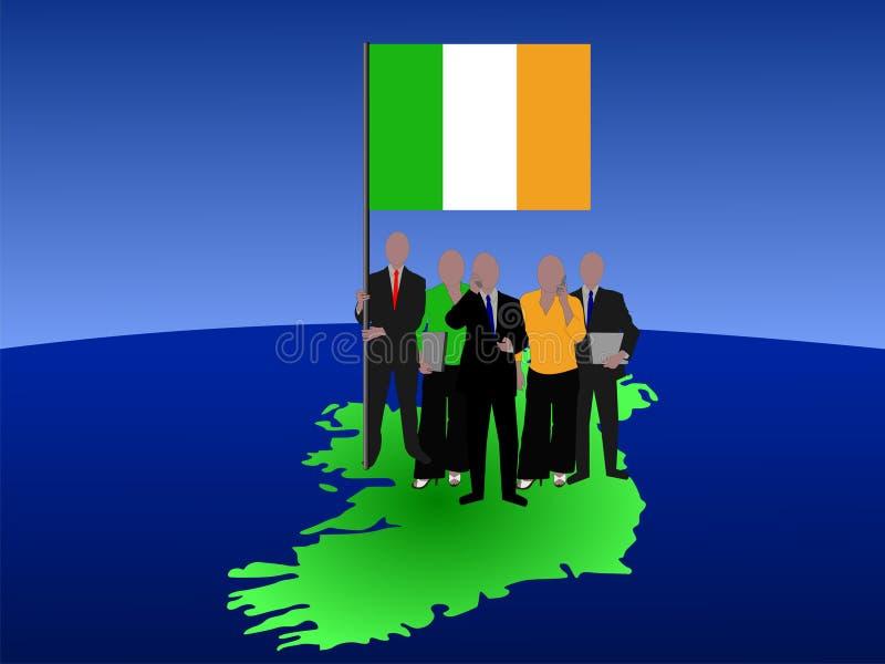 Personas irlandesas del asunto ilustración del vector