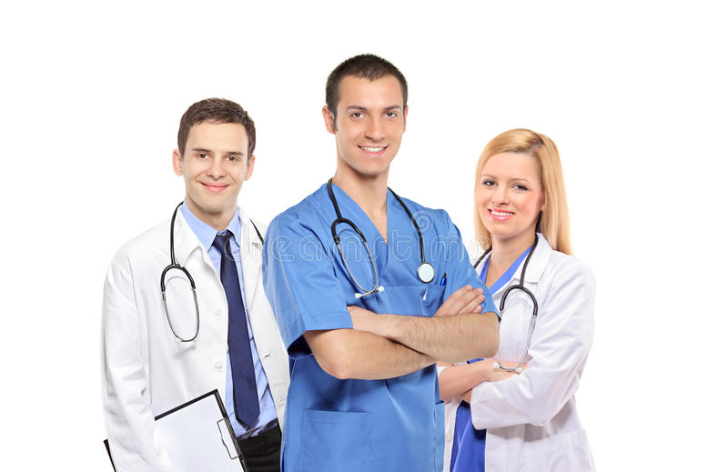Personas médicas de doctores, de hombres y de la mujer fotografía de archivo