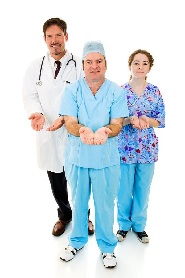 Personas médicas que cuidan fotografía de archivo libre de regalías
