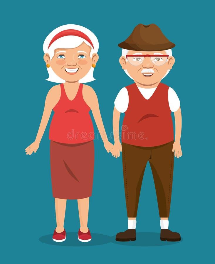 personas mayores del carácter del icono del avatar ilustración del vector