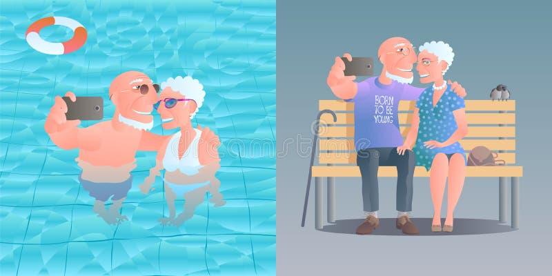 Personas mayores del ejemplo del vector libre illustration