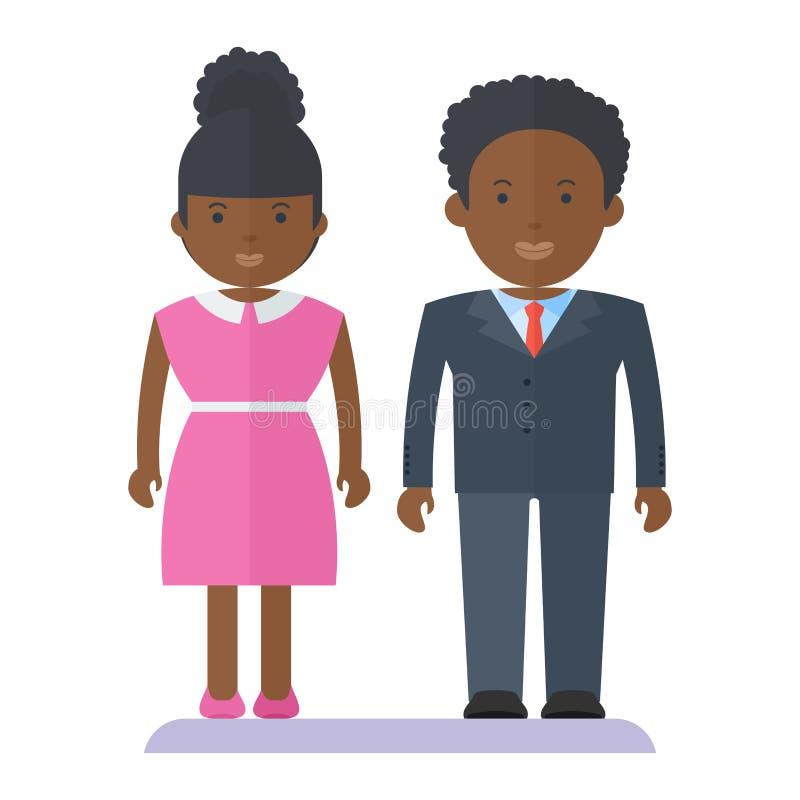 Personas negras de los pares libre illustration