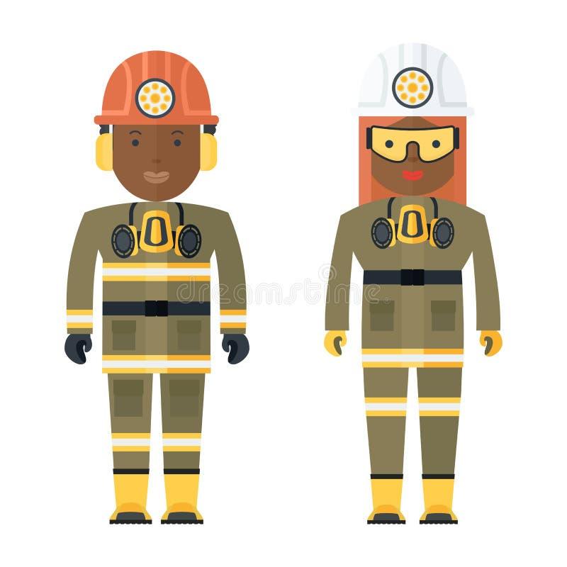 Personas negras del minero libre illustration