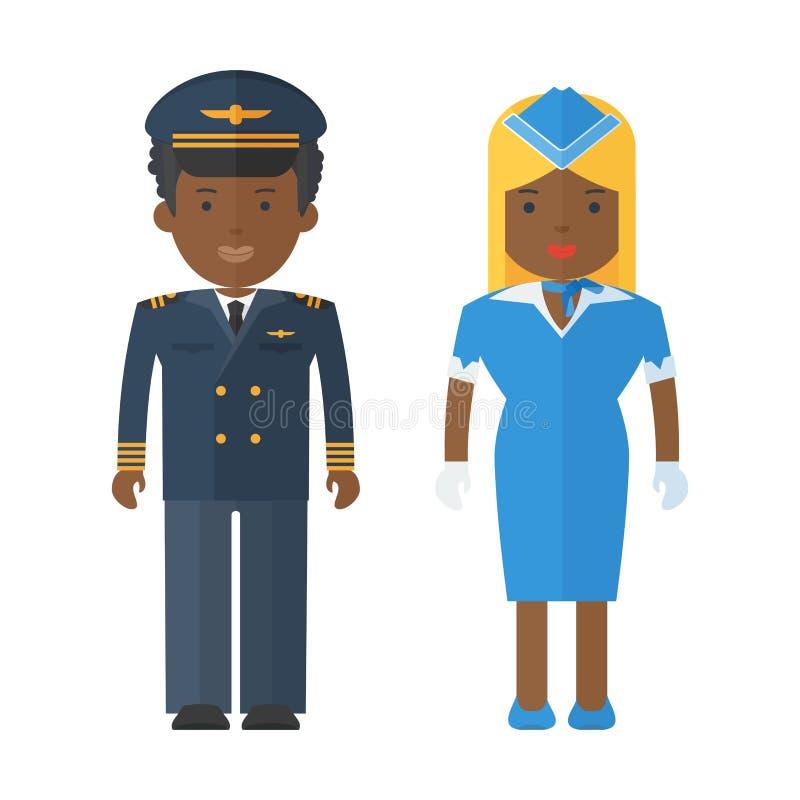 Personas negras del personal airplan libre illustration