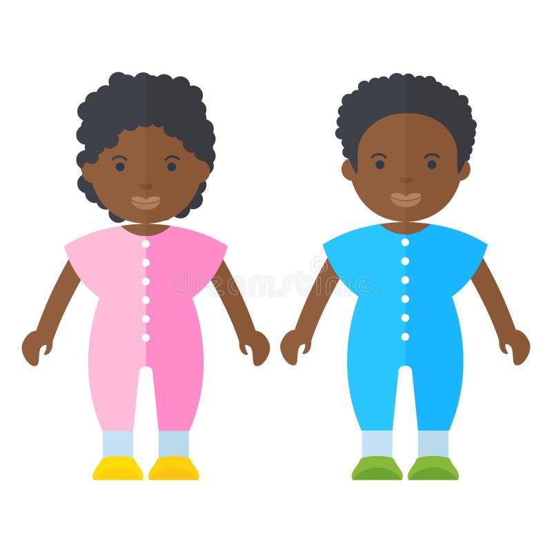 Personas negras pequeñitas libre illustration