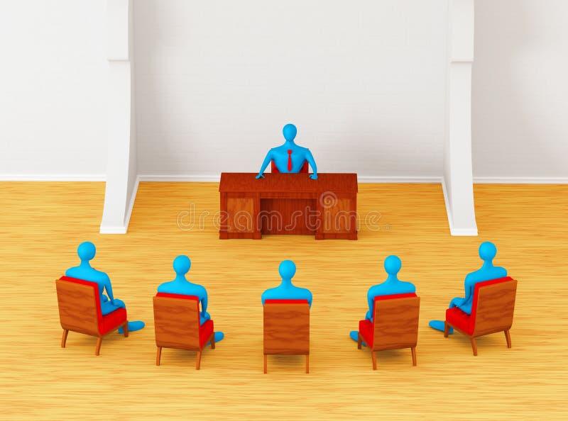 Personas que tienen reunión de negocios stock de ilustración