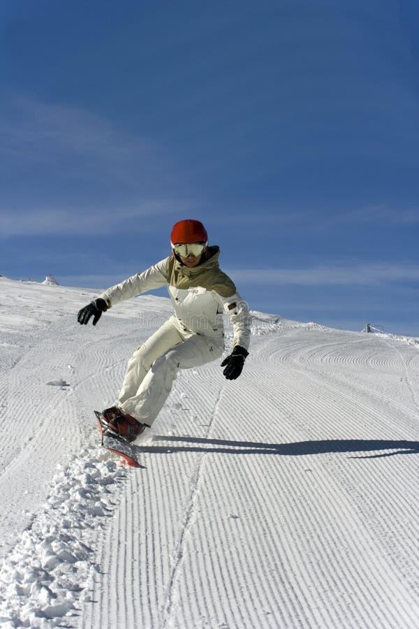 PERSONAS SNOWBOARD-Bulgaria. foto de archivo