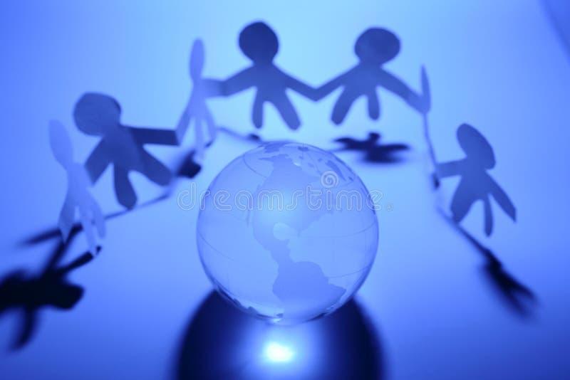 Personas y globo imagen de archivo libre de regalías