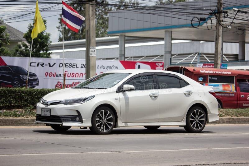 Personbil Toyota Corolla Altis Elfte utveckling royaltyfri bild