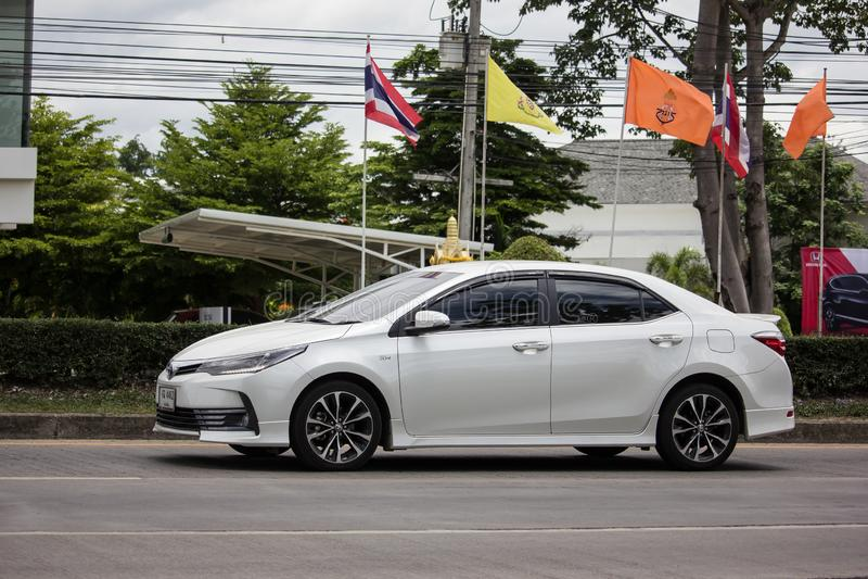 Personbil Toyota Corolla Altis Elfte utveckling arkivfoton