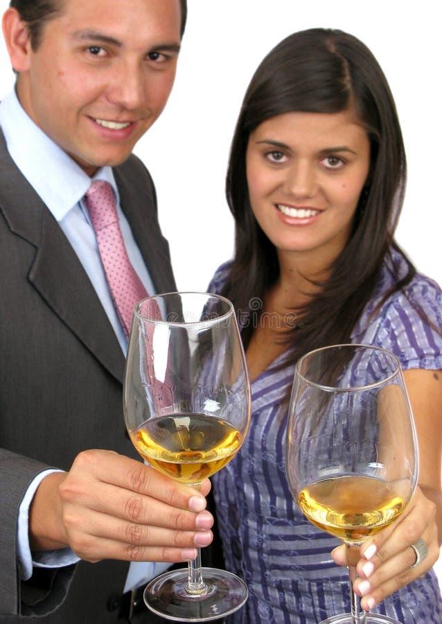 Persone di affari felici con Champagne immagini stock libere da diritti