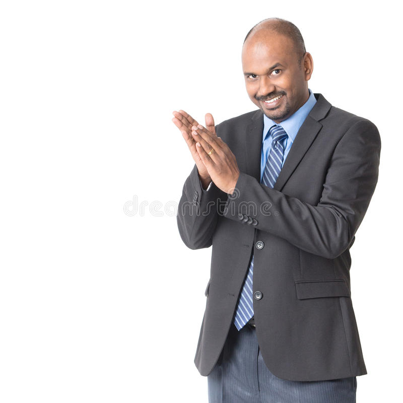 Persone di affari indiane che applaudono immagini stock