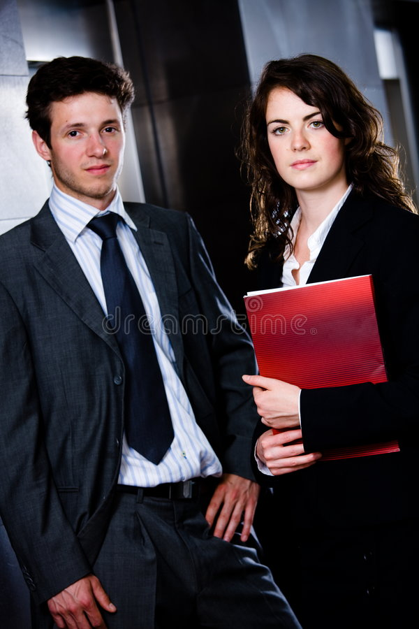 Persone di affari - ritratto corporativo fotografia stock