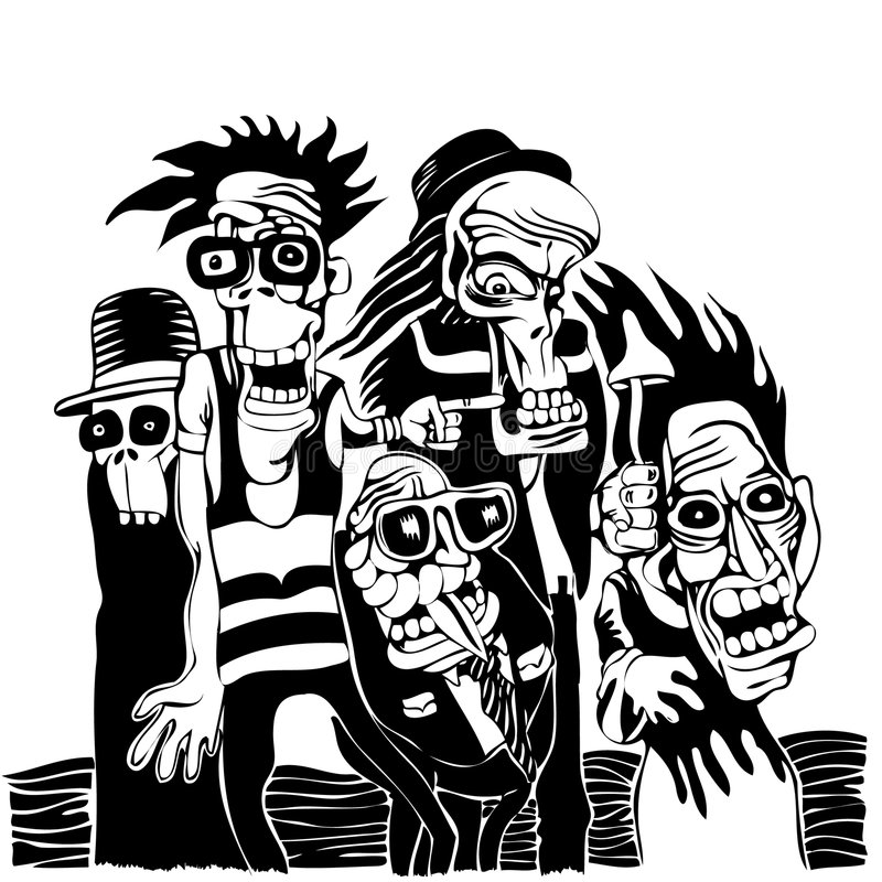 Persone pazzesche illustrazione di stock