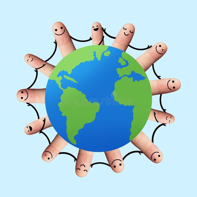 Persone in tutto il mondo tenersi per mano immagine stock