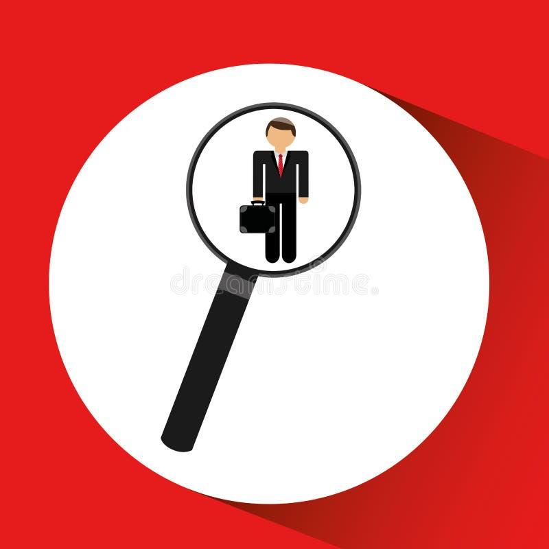 personeel dat leiders uitvoerende grafisch zoeken royalty-vrije illustratie
