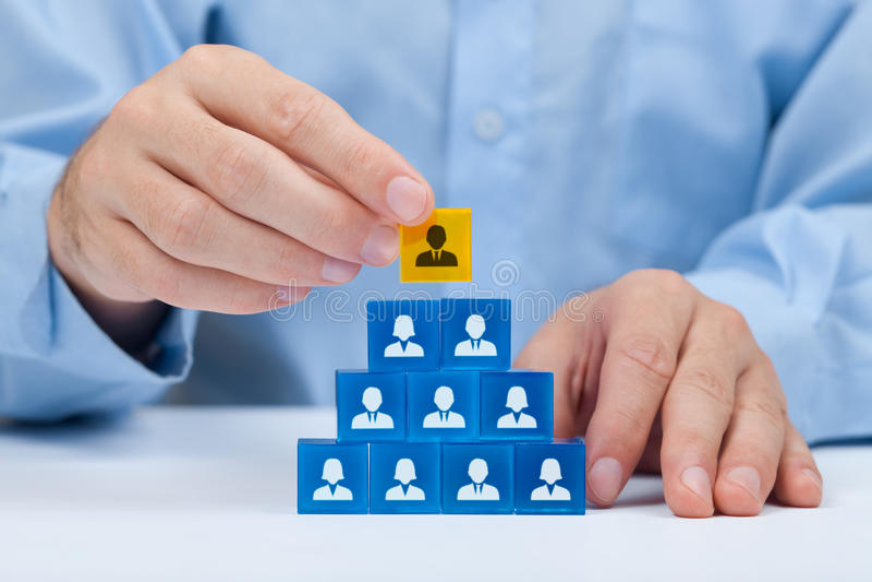 Personeel en CEO royalty-vrije stock fotografie