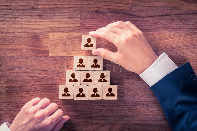 Personeel en CEO stock afbeelding