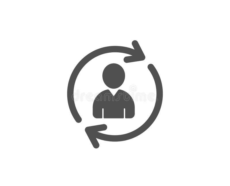 Personeels eenvoudig pictogram Het teken van het gebruikersprofiel stock illustratie