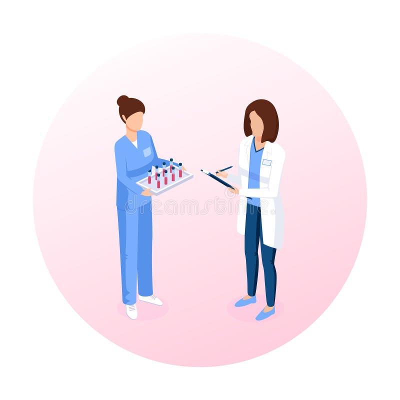 Personel medyczny isometric wektorowa ilustracja ilustracja wektor