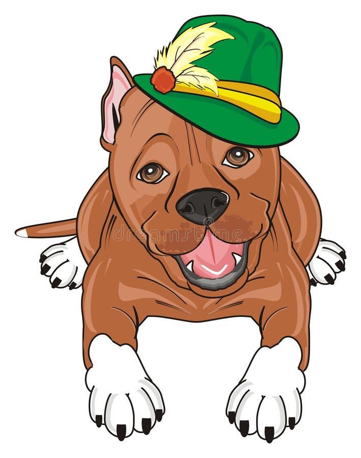 Personel w zielonym kapeluszu royalty ilustracja