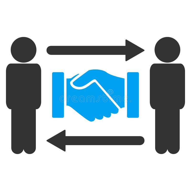 Personen-Händedruck-Austausch-Raster-Ikone lizenzfreie abbildung