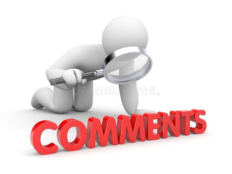 Personen läser kommentarer royaltyfri illustrationer