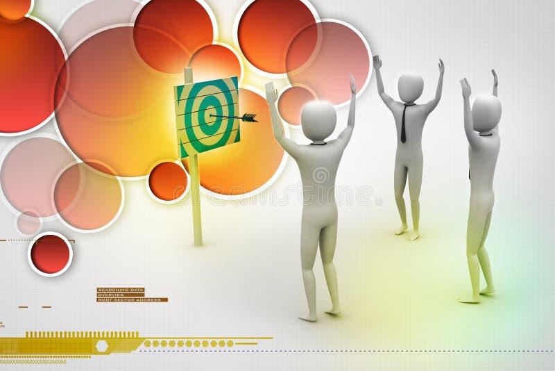 Personen met een doel en pijlen stock illustratie