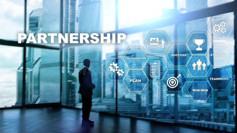 Personengesellschaftskonzept Erfolgreiches Abkommen nach großer Sitzung E stock abbildung