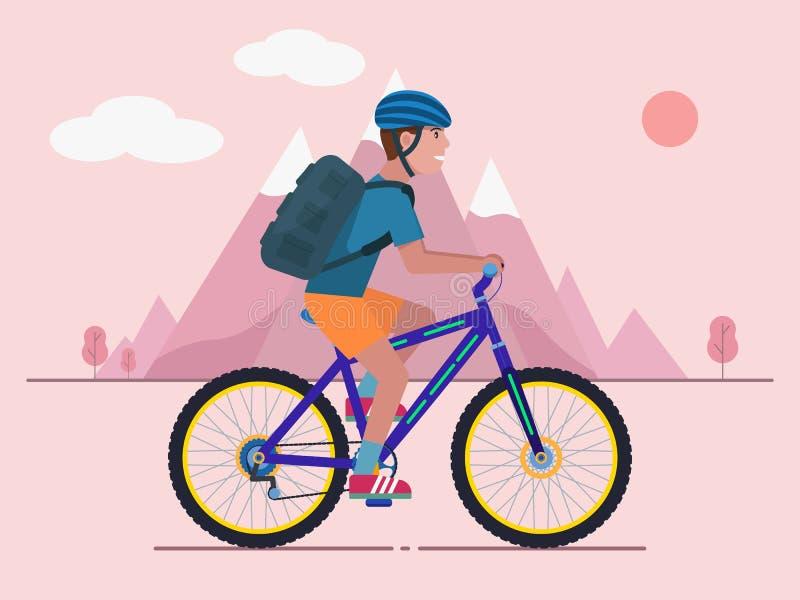 Personenvervoer een bergfiets vector illustratie