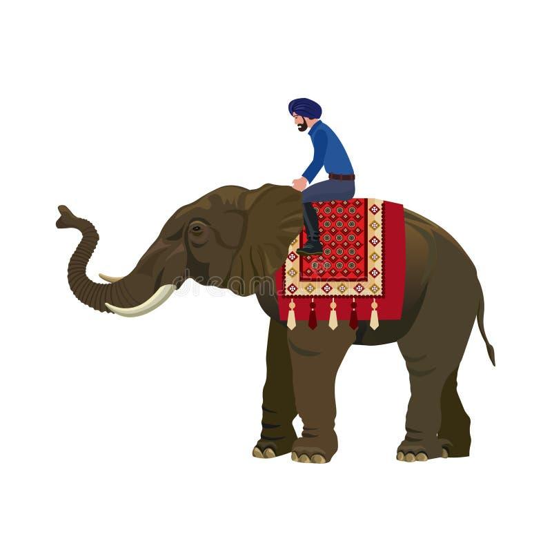 Personenvervoer een olifant vector illustratie