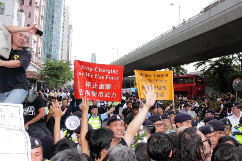 personer som protesterar för probe för H K för dödbegärandissident royaltyfria bilder