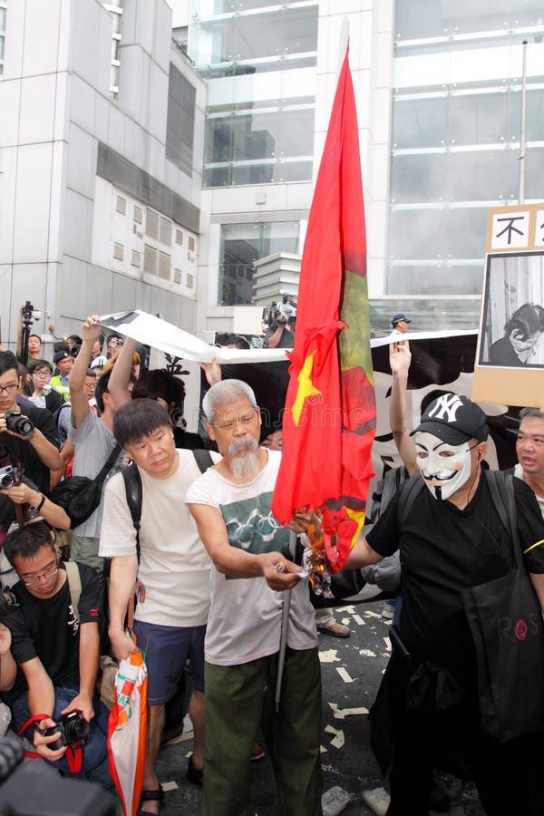 personer som protesterar för probe för H K för dödbegärandissident royaltyfri bild