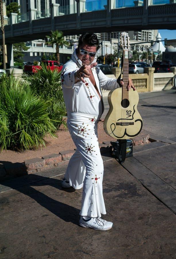 Personificador de Las Vegas Elvis imágenes de archivo libres de regalías