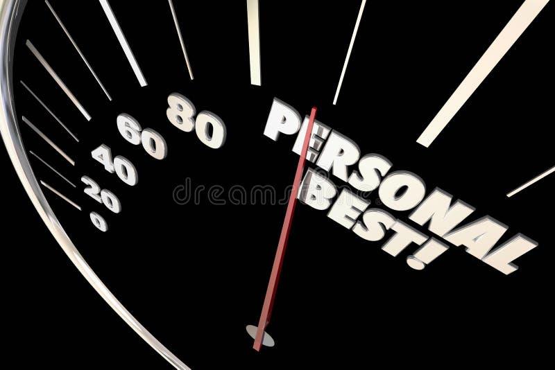 Personlig bästa ny rekord- Tid hastighetsmätare vektor illustrationer